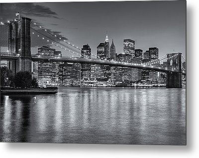 Brooklyn Bridge Twilight II Metal Print