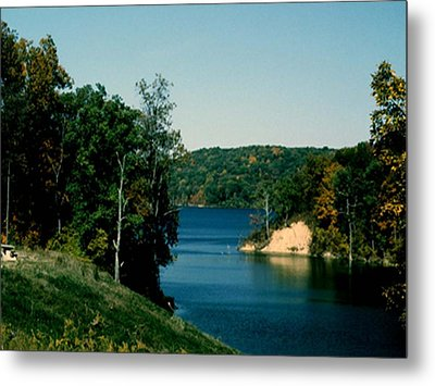 Metal Print featuring the photograph Brookville Lake Brookville Indiana by Gary Wonning