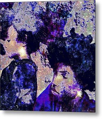 Brothers Blue Metal Print by Iowan Stone-Flowers
