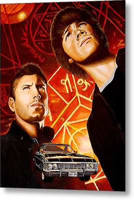 Brothers Winchester Metal Print by Al  Molina