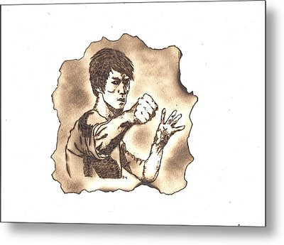 Bruce Lee Metal Print by Clarence Butch Martin