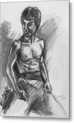 Bruce Lee Metal Print by Jamey Balester
