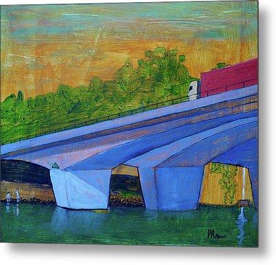 Brunswick River Bridge Metal Print by Paul McKey