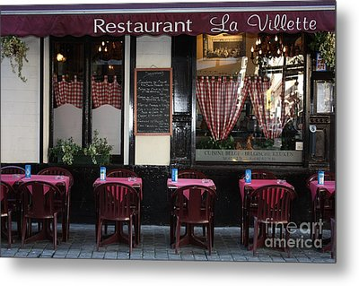 Brussels - Restaurant La Villette Metal Print