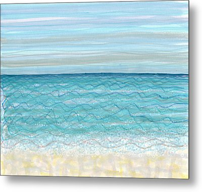 Bubble Beach Metal Print