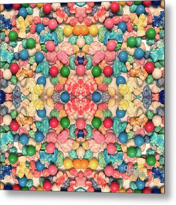 Metal Print featuring the digital art Bubble Gum #9776 by Barbara Tristan