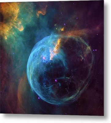 Metal Print featuring the photograph Bubble Nebula by Marco Oliveira