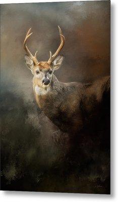 Buck In The Moonlight Metal Print
