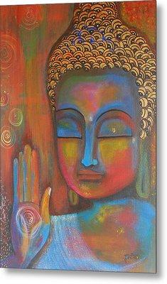 Buddha Blessings Metal Print by Prerna Poojara