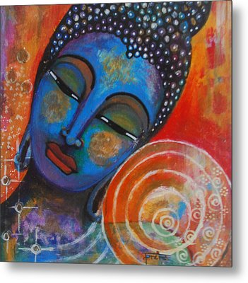 Buddha Metal Print by Prerna Poojara