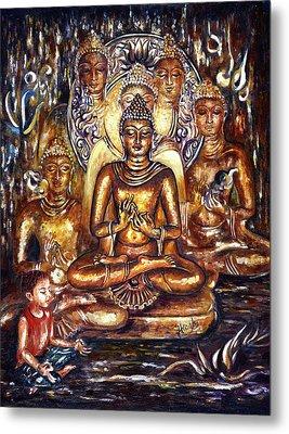Buddha Reflections Metal Print by Harsh Malik