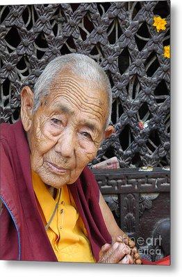 Buddhist Monk Kathmandu Metal Print