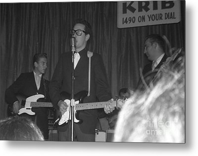 Buddy Holly Onstage At The Surf Ball Room Playing His Last Concert Metal Print by The Titanic Project