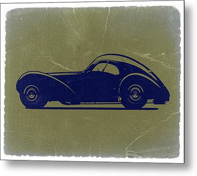 Bugatti 57 S Atlantic Metal Print by Naxart Studio