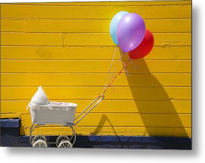 Buggy And Yellow Wall Metal Print by Garry Gay