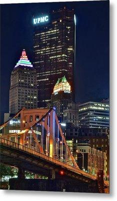 Buildings Towering Over Pittsburgh Metal Print