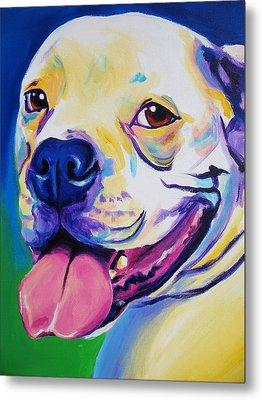 American Bulldog - Luke Metal Print