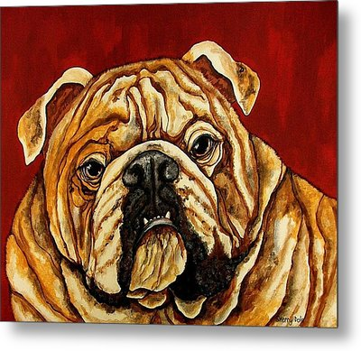 Bulldog Metal Print by Sherry Dole