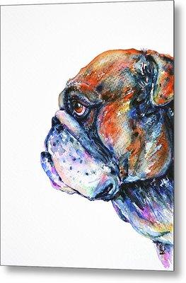 Bulldog Metal Print by Zaira Dzhaubaeva