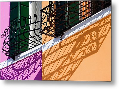 Metal Print featuring the photograph Burano Houses by Stefan Nielsen