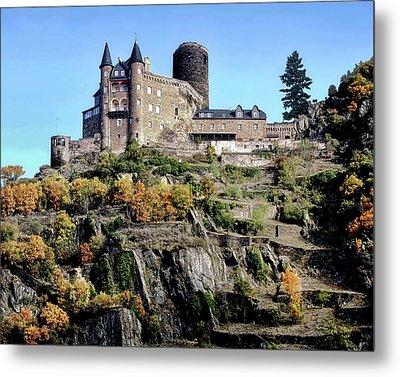 Metal Print featuring the photograph Burg Katz - Rhine Gorge by Jim Hill