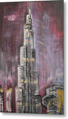 Burj Khalifa Metal Print by Sladjana Lazarevic