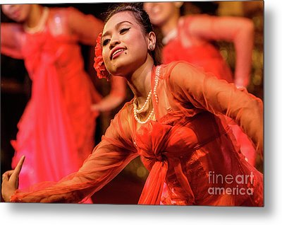 Burmese Dance 1 Metal Print by Werner Padarin