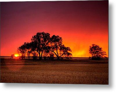 Burning Sunset Metal Print by Thomas Zimmerman