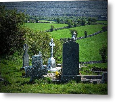 Burren Crosses County Clare Ireland Metal Print