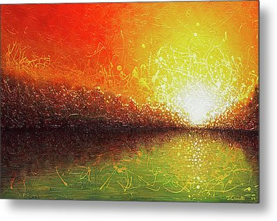 Bursting Sun Metal Print by Jaison Cianelli