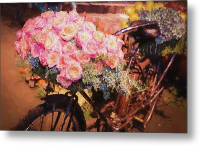Bursting With Flowers Metal Print