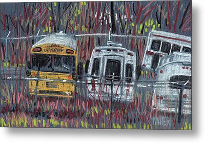 Bus Yard Metal Print by Donald Maier