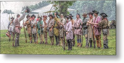 Bushy Run Milita Camp Roll Call Metal Print by Randy Steele