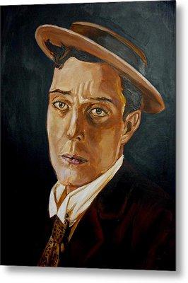 Buster Keaton Tribute Metal Print by Bryan Bustard