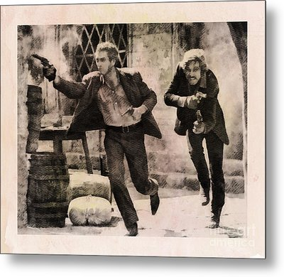 Butch Cassidy And The Sundance Kid, Classic Movie Metal Print