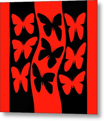 Butterflies Heading Home Metal Print