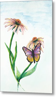 Butterfly Dance Metal Print by Deborah Ellingwood