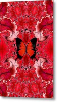 Butterfly Dream Phone Case Metal Print