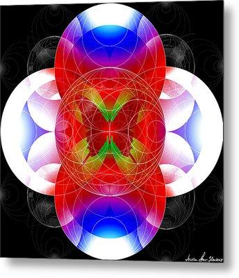 Metal Print featuring the digital art Butterfly Effect by Iowan Stone-Flowers