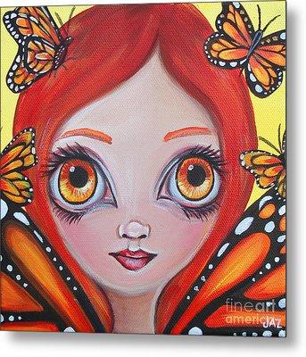 Butterfly Fairy Metal Print by Jaz Higgins