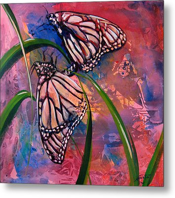 Butterfly Love Metal Print by AnnaJo Vahle