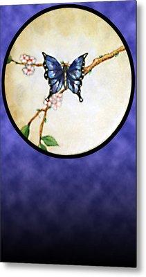 Butterfly Moon Metal Print