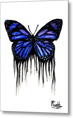 Butterfly Tears Metal Print by Michael Grubb