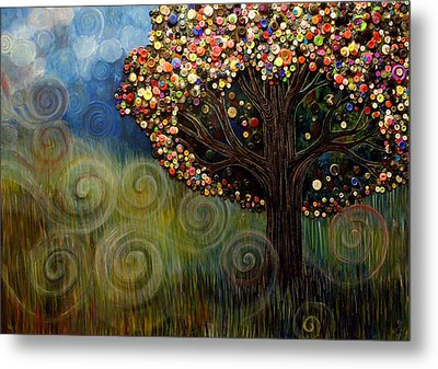 Button Tree 0003 Metal Print