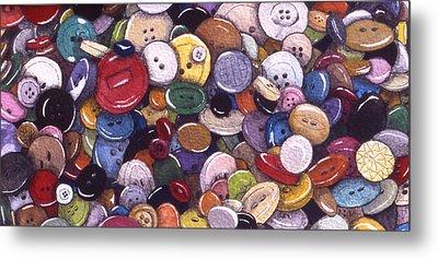 Buttons Metal Print by Victoria Heryet