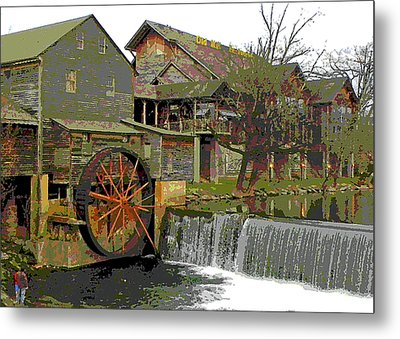 Metal Print featuring the photograph By The Old Mill Stream by Larry Bishop