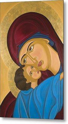 Byzantine Art Mother Love Metal Print by Marinella Owens