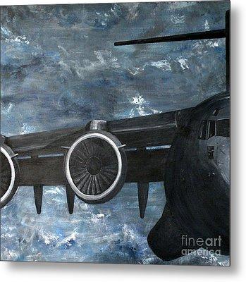 C-17 Globemaster IIi- Panel 2 Metal Print