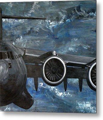 C-17 Globemaster IIi- Panel 3 Metal Print