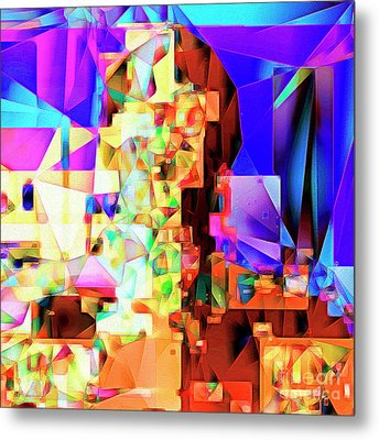 C-3po Metropolis 20170406 V2 Square Metal Print